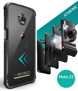 Case / Bumper / Capinha Moto Z3 Play, Preto - Frete Grátis!