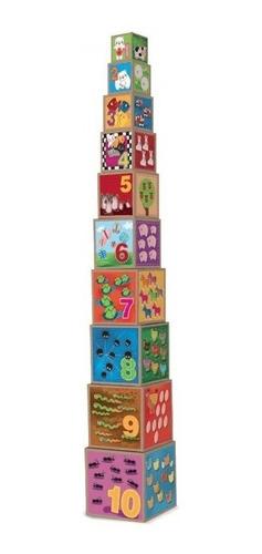 Cubos Apilables X10 Torre Animales Numeros Castellano Full