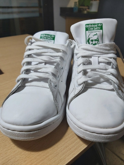 Zapatillas adidas Originales Blancas Y Verdes. Poco Uso