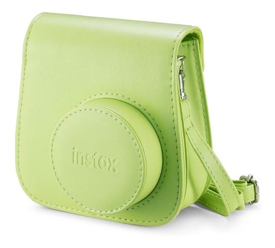 Bolsa De Couro Instax Mini 9 Verde (original)
