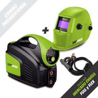 Soldadora Inverter Kroner 140 Amp + Máscara Fotosensible