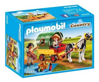 Playmobil 6948 Picnic Con Pony Y Carreta