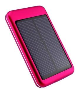 Cargador Solar Portátil Batería Kolke Kpb-401s Negro / Rosa