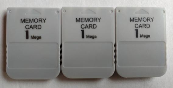 3 Memory Card Ps1 Psone Psx Playstation Em Excelente Estado