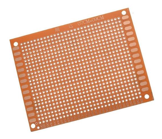 Placa Experimental Perforada Simple Faz 7x9cm Pcb Protoboard