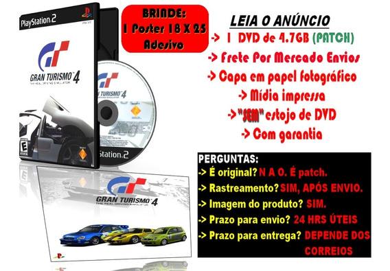 Gran Turismo 4 Para Ps2 + Brinde Poster Adesivo 25 X 18 Cm