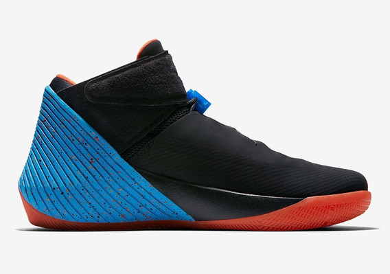 Tenis Jordan Why Not Zer 0.1 Negro C/azul Naranja # 6 Al 7.5