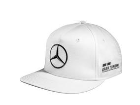 f6e092cc1 Gorra Mercedes Benz Blanca Lewis Hamilton Amg Flatbrim 2018