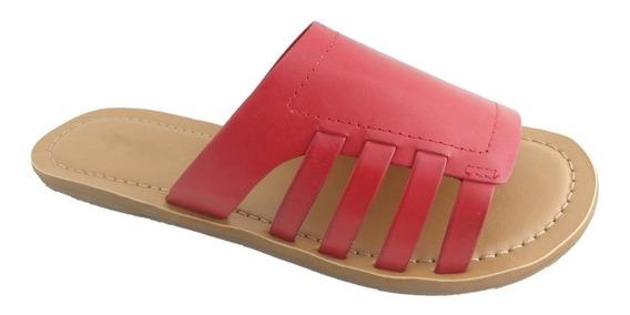 Rasteira Sapatoweb Couro Vermelho - Wangieverm
