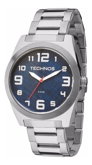 Relógio Technos Masculino 2035mfl/1a Azul Militar Aço