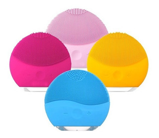 Cepillo Limpiador Facial Poros Acné Silicona Recargable Usb