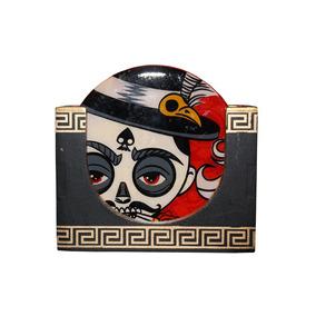 Set De Portavasos Reyes Calaveras Mexicanas Neografika