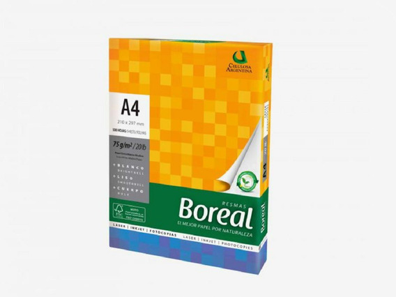 Resma Papel Boreal A4 70 Grs Pilar