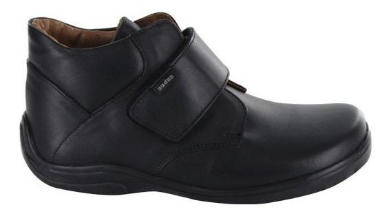 Zapato Escolar Para Niño Con Velcro Audaz Romeo Negro T19-26