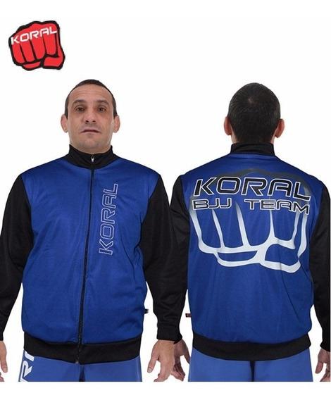 Jaqueta Casaco Jiu Jitsu Team Azul Koral