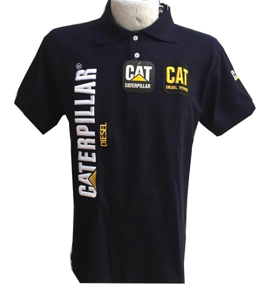 Playera Tipo Polo Cat Caterpillar Azul Marino Envío Gratis
