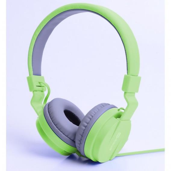 Fone Estéreo Dobrável Dotcell F255 Verde E Azul Novo