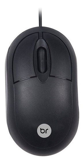 Kit 60 Mouse Óptico Usb Bright Preto 800 Dpi
