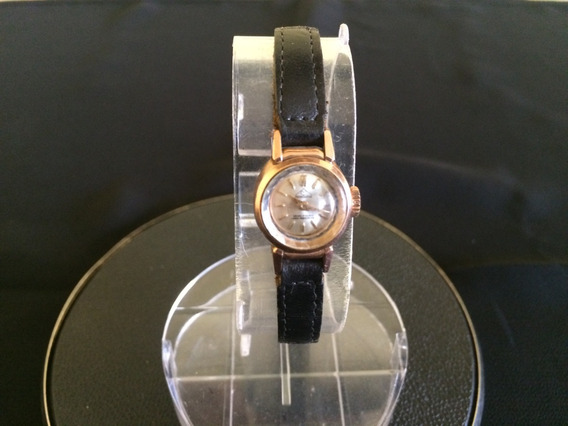 Relógio Pulso Feminino Mondaine Em Plaqué De Ouro A Corda