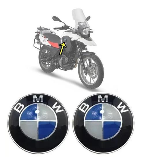 Par Adesivo Emblemas Tanque Bmw Gs 650 2011/2017 Aluminium