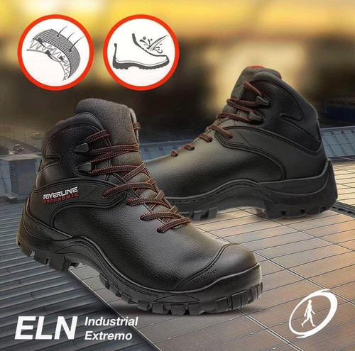 Calzado De Seguridad Riverline Elng3 Evolution Negro