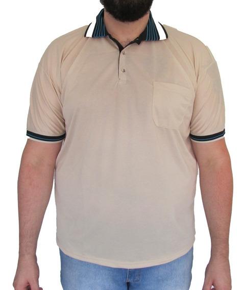 Kit 03 Camisas Gola Polo Dry Fit Tamanho Grande Cor Sortidas