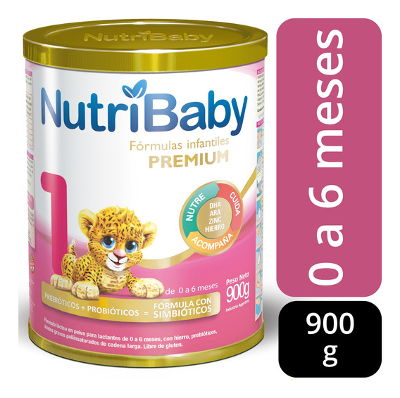 Nutribaby 1 Premium Leche 0 A 6 Meses Lata X 900 Grs