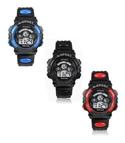Kit Com 02 Unidades Relógio S - Sport Militar Kids Honhx