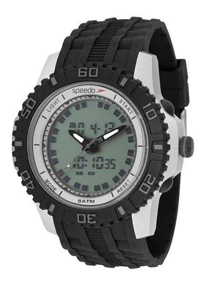 Relógio Masculino Speedo 81155g0evnp2 - Prata/preto