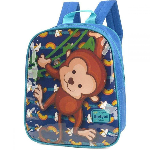 Mochila Petit Up4you Macaco Verde - Luxcel 32608 Original
