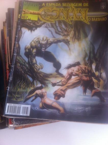 A Espada Selvagem De Conan O Bárbaro   Coleção Com 82 Gibis