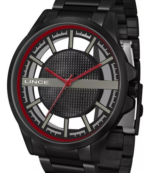 Relógio Lince Masculino Preto Mrn4580s P1px Original