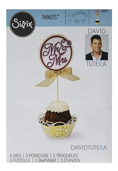 Die Troquel David Tutera Cupcake Wrapper And Toppers