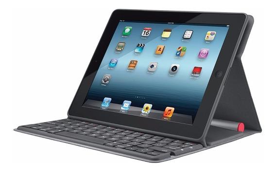 Teclado Bluetooth Y Case Solar, iPad 2, 3 Y 4ta Generacion