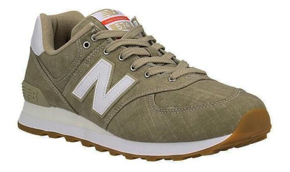 Zapatillas New Balance Urbanas Ml574ylg Beige Originales