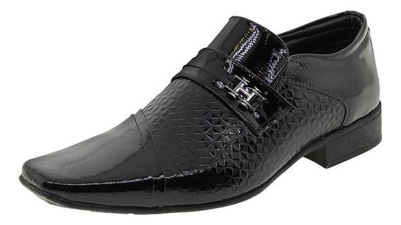 Sapato Masculino Social Air Prince Verniz/preto Jota Pe - 40
