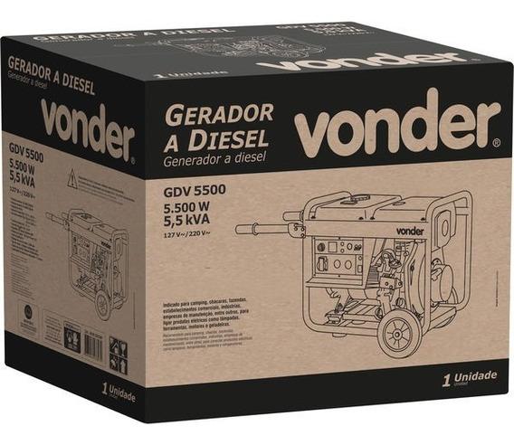 Gerador A Diesel Gdv 5500, Vonder