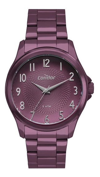 Relógio Condor Feminino Roxo Co2036muh/4l