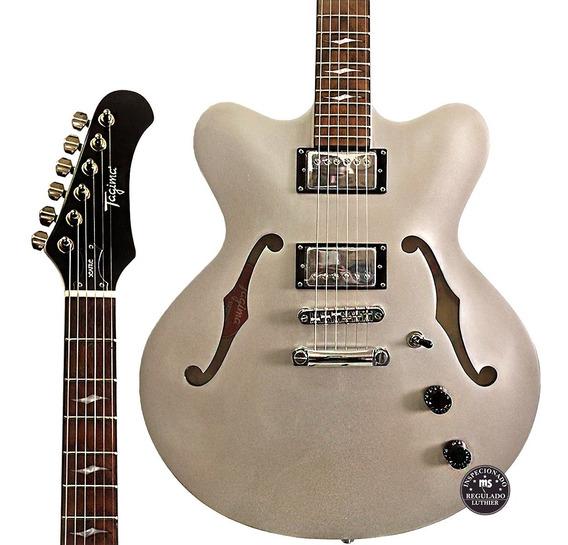 Guitarra Tagima Semi Acústica Seattle Prata + Case Promoção!