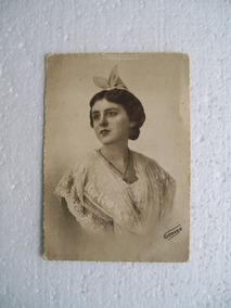 Antiga Foto Tipo Postal - Dama Francesa - Início Século 20