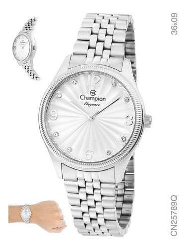Relógio Champion Feminino Prata Passion Original Nf
