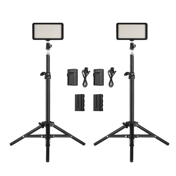 Kit De Luces Led Andoer W228 3200k/6000k, 2 Piezas