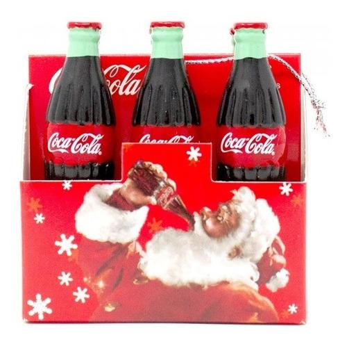 Imagen 1 de 2 de Adorno Para Árbol De Navidad Original Coca Cola 6 Botellas