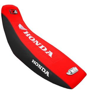 Funda Asiento Tc4 Estampada Honda Xr 125 150 Rojo Negro Fas