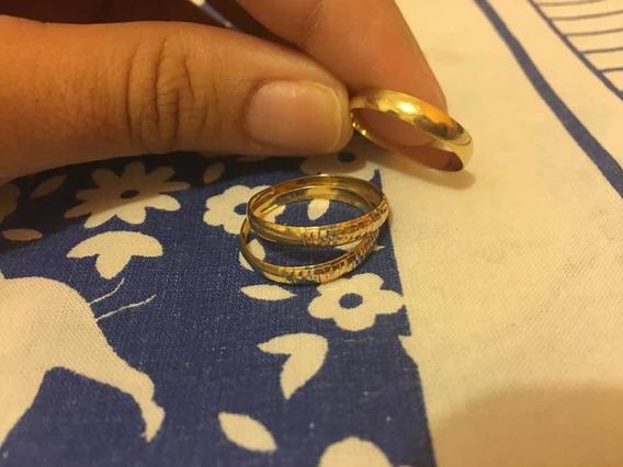 Colar E Aliança E Aparadores De Ouro