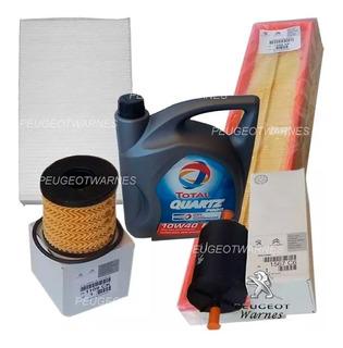 Kit 4 Filtros Originales + Aceite Peugeot 308 1.6 Nafta 16v