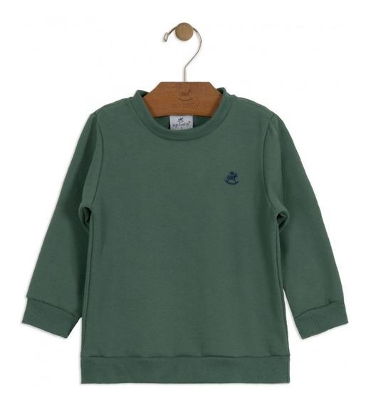 Blusa Moletom Básico Verde Militar Menino Up Baby