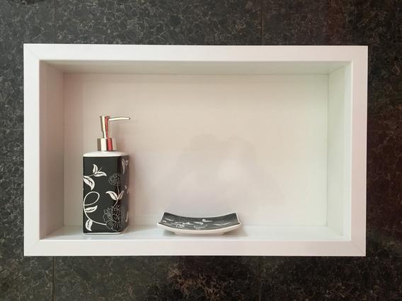 Nicho Em Porcelanato P/ Banheiro Box Cuba 50x30x10 Cm
