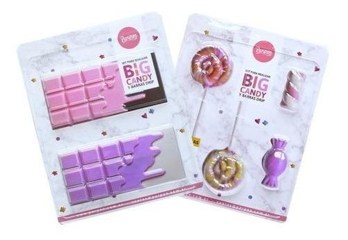 Imagen 1 de 8 de Set De 2 Moldes Placas Big Candy Parpen