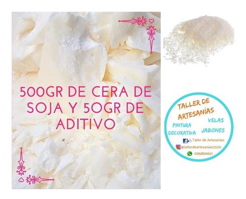 500gr De Cera De Soja Y 50gr De Aditivo